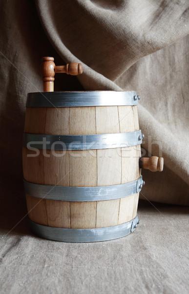 Tölgy hordó vászon szép vízcsap klasszikus Stock fotó © cosma