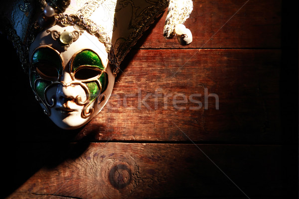 Mask On Wood Stock photo © cosma