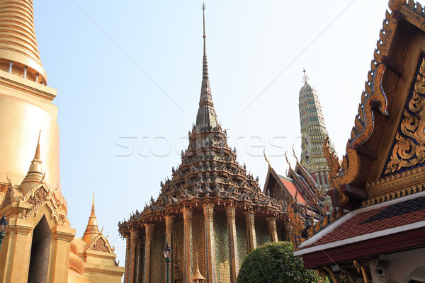 Koninklijk paleis tempel emerald buddha vol Stockfoto © cosma