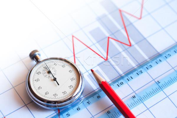 Сток-фото: бизнеса · время · секундомер · красный · карандашом