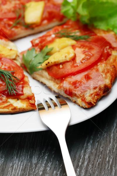 Freshness Sliced Pizza Stock photo © cosma