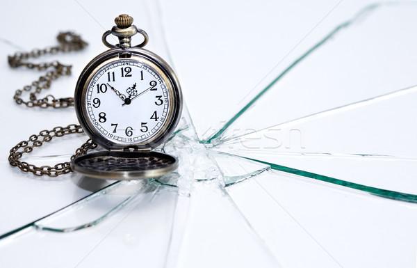 крайний срок цепь часы время Сток-фото © cosma
