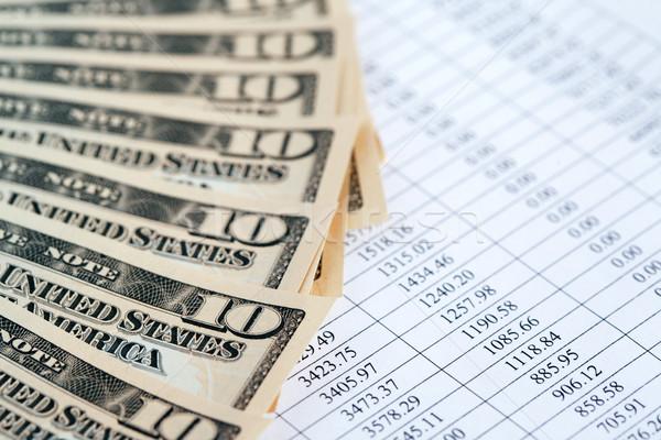 Finanziellen Buchhaltung Dollar Bank stellt fest Stock foto © cosma
