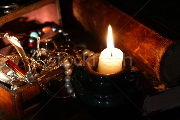 Jewelry And Candle Stock photo © cosma