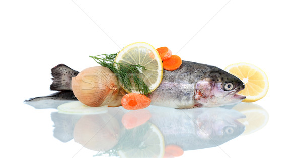 Raw Fish For Preparation Stock photo © cosma