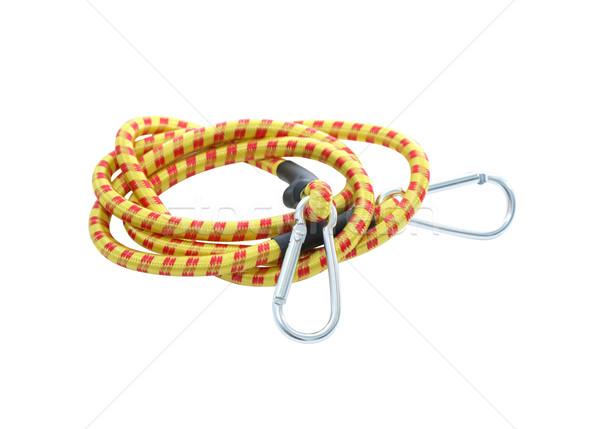 Elastisch touw witte nieuwe geïsoleerd Stockfoto © cosma