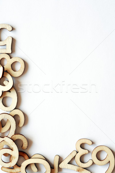 Wooden Digits Border Stock photo © cosma