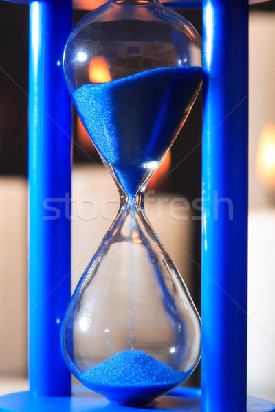 Blue Hourglass Closeup Stock photo © cosma