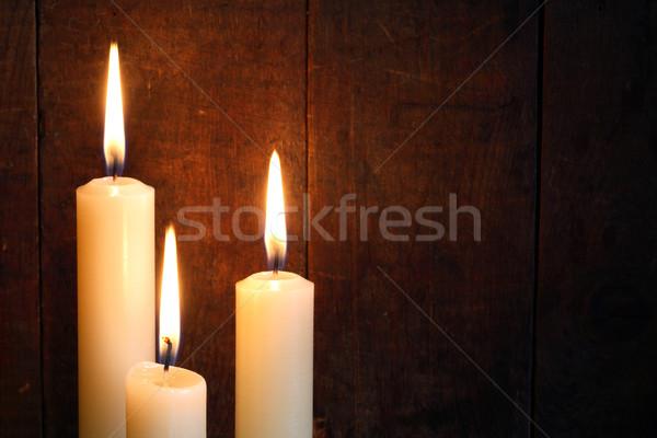 Three Candles Stock photo © cosma