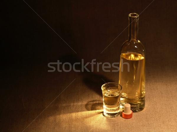 Wine On Dark Stock photo © cosma