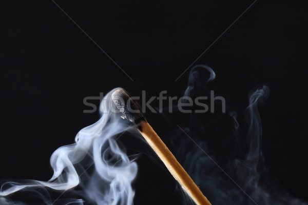 Extinguished Match On Dark Stock photo © cosma