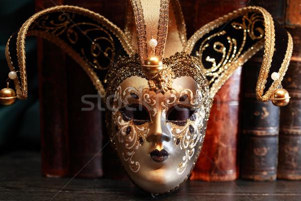 Velencei maszk közelkép művészet velencei karnevál maszk Stock fotó © cosma
