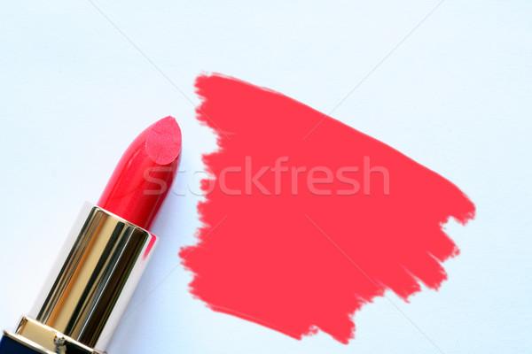 Batom vermelho branco tubo abstrato local moda Foto stock © cosma