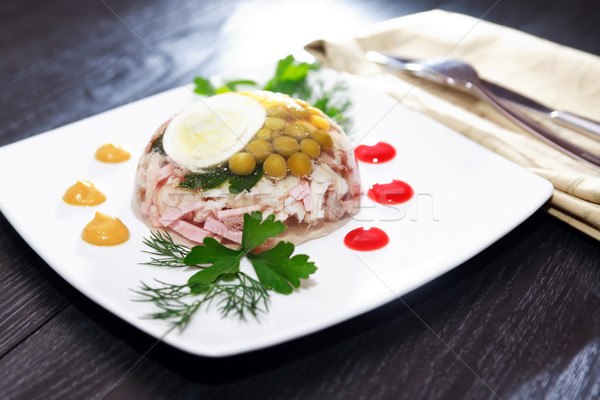 Aspic On Table Stock photo © cosma