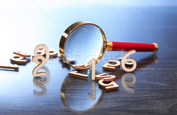 Magnifying Glass And Digits Stock photo © cosma