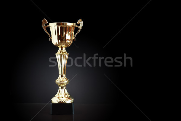 Gold Trophy On Black Stock photo © cosma