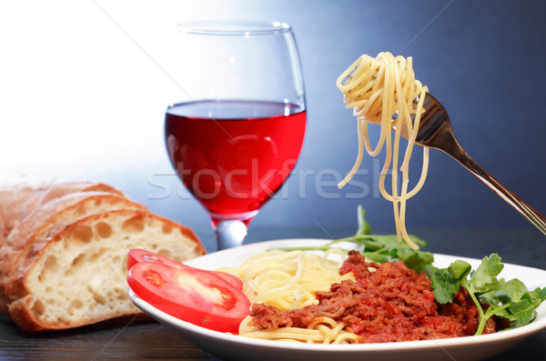 Italian Pasta Bolognese Stock photo © cosma