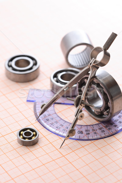 Drawing Instrument And Ball Bearing Stock photo © cosma