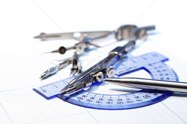 Szett rajz hangszer ipari toll grafikon Stock fotó © cosma