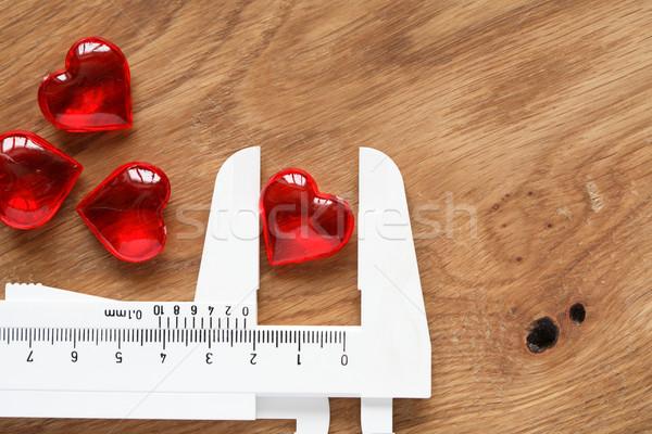 Kalp sevmek kardiyoloji kırmızı cam beyaz Stok fotoğraf © cosma