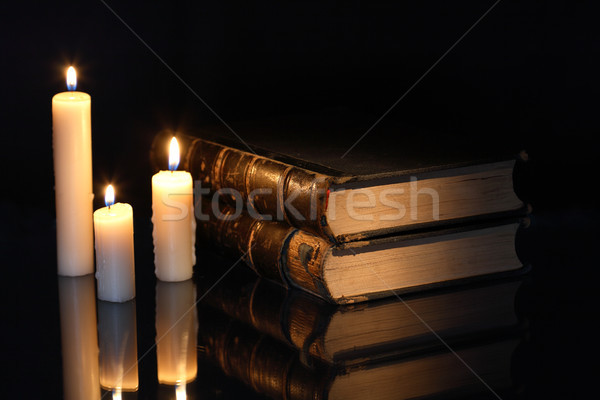 Books And Candles Stock photo © cosma