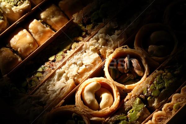 Közel-Kelet édes közelkép szett jó étel Stock fotó © cosma
