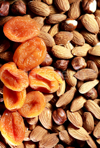 Nuts And Dried Apricots Stock photo © cosma