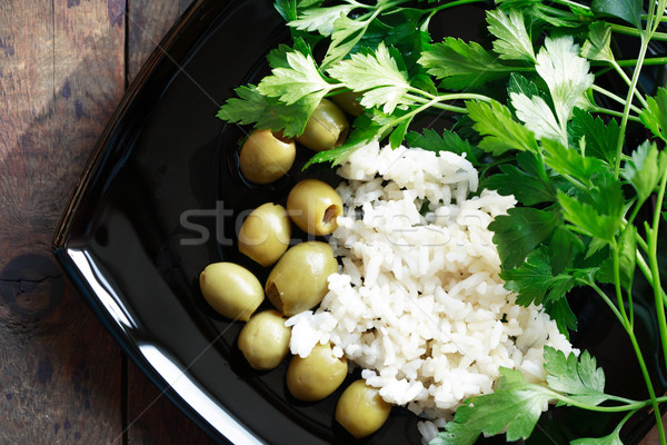 Rice And Olives Stock photo © cosma