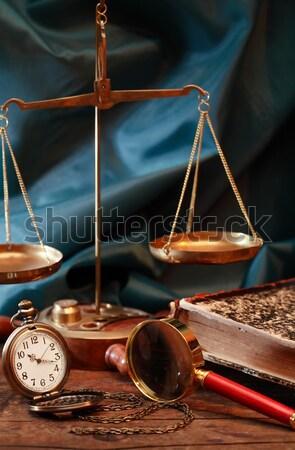 Eski saat bağbozumu natürmort tablo ilerleyin Stok fotoğraf © cosma