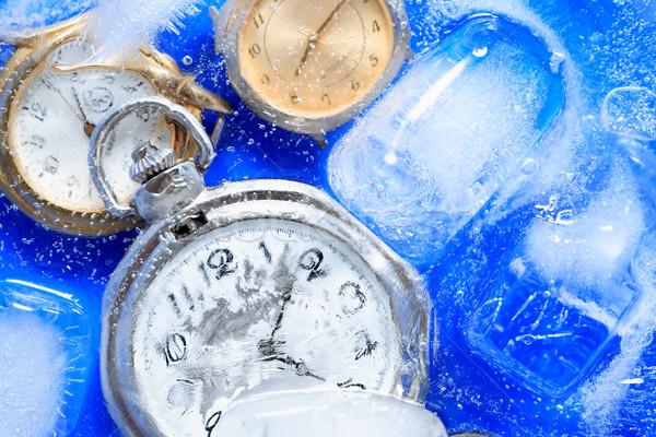 Congelado tiempo poco primer plano agua hielo Foto stock © cosma