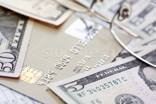 お金 クレジットカード 紙 桁 背景 表 ストックフォト © cosma