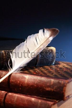 Mobius Strip On Books Stock photo © cosma