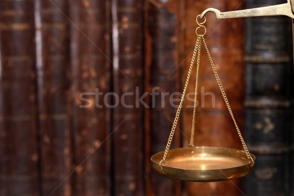 древних веса Весы старые латунь Сток-фото © cosma
