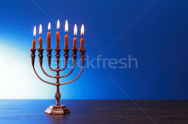 Traditional Jewish Menorah Stock photo © cosma