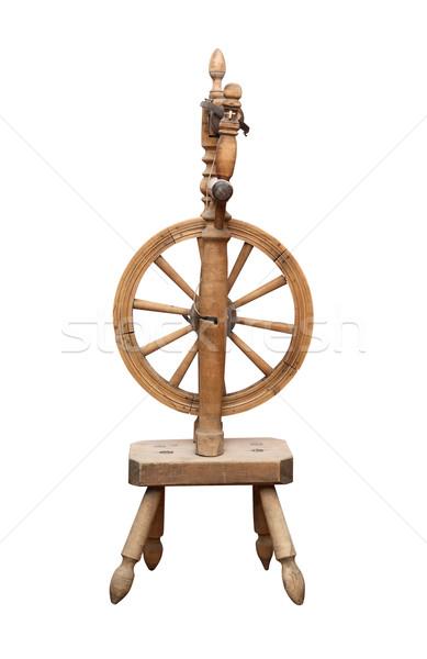 öreg kerék szép ősi fából készült fehér Stock fotó © cosma