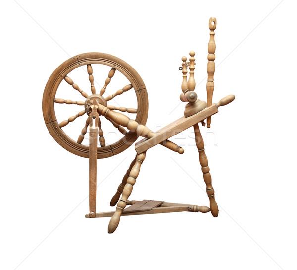 Old Spinning Wheel Stock photo © cosma