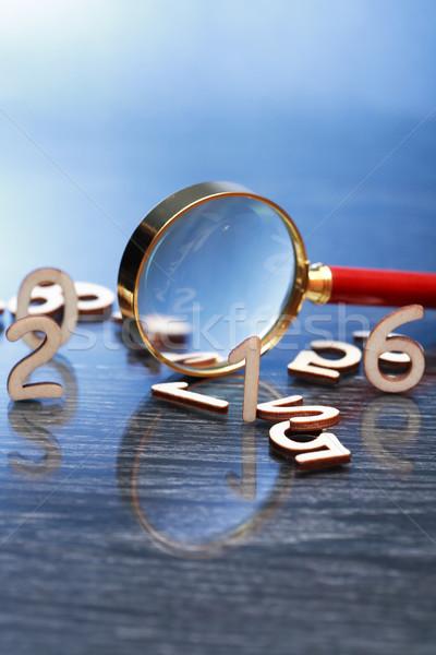 Lupa dígitos investigación establecer negocios Foto stock © cosma