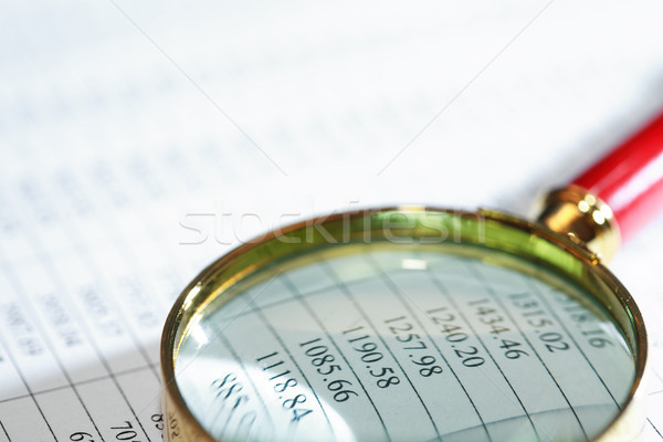 Magnifying Glass On List Stock photo © cosma