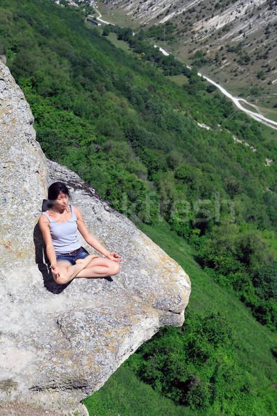 Yoga On The Rock Stock photo © cosma
