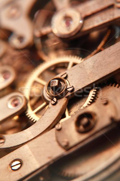 Vieux horloge mécanisme industrielle montre de poche Photo stock © cosma