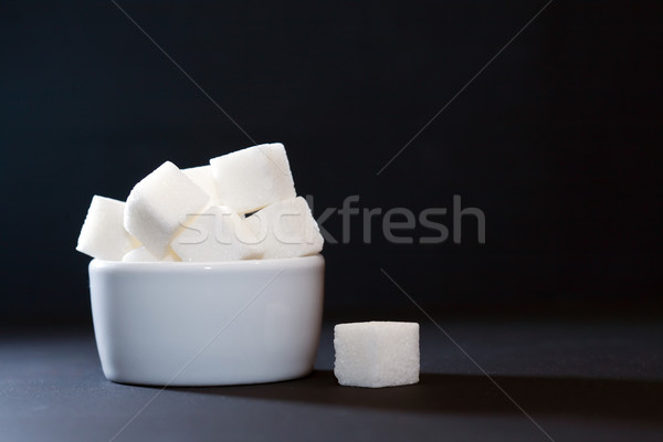 Sugar Bowl On Dark Stock photo © cosma