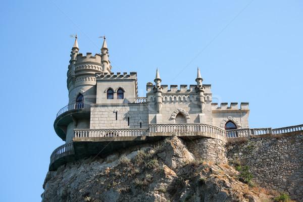 Сток-фото: замок · рок · красивой · небольшой · гнезда · высокий
