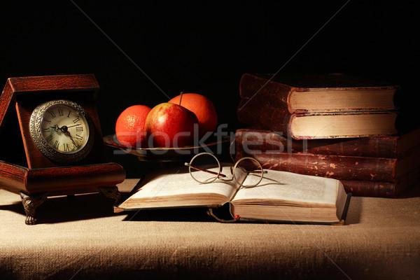 Fruits And Books Stock photo © cosma