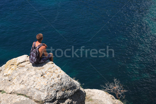 Lonely Hiker Stock photo © cosma