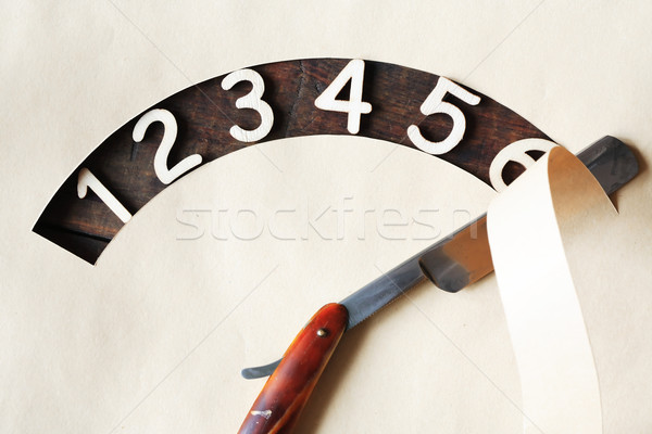 Digits And Razor Stock photo © cosma