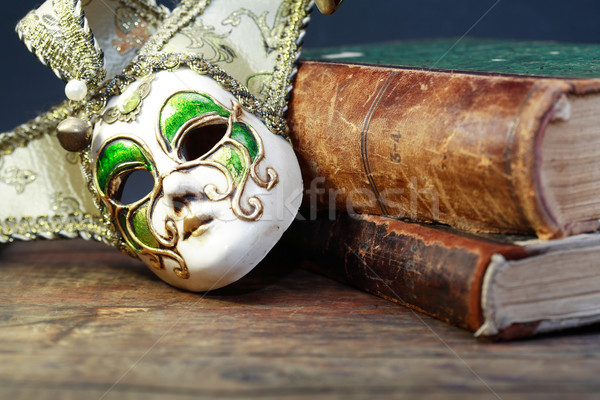 Books And Mask Stock photo © cosma