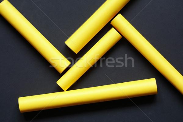 желтый бумаги аннотация набор фон промышленности Сток-фото © cosma
