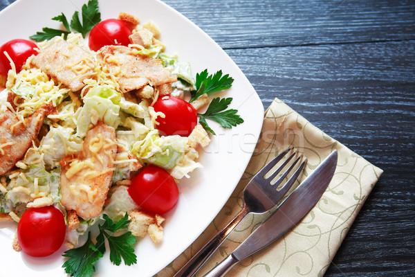 Fried Fish With Garnish Stock photo © cosma
