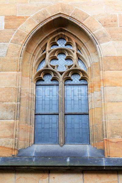 Готский окна старые каменные здании стены Сток-фото © cosma