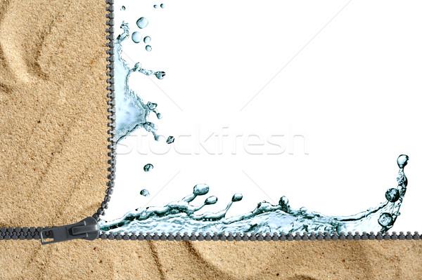 Víz ökológia csobbanás homok nyitva cipzár Stock fotó © cosma